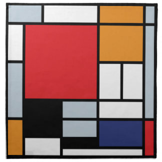 Piet Mondrian - Composition with Large Red Plane Napkin