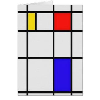 Piet Mondrian Modern Art Greeting Card