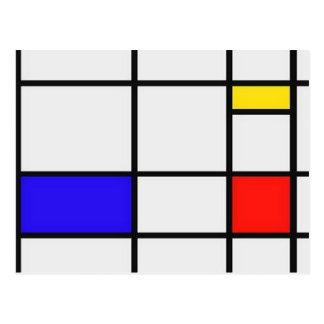 Piet Mondrian Modern Art Postcards