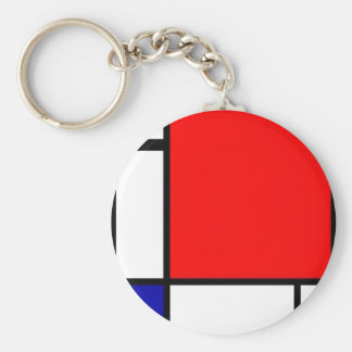 Piet Mondrian - Neoplastic Art Key Ring
