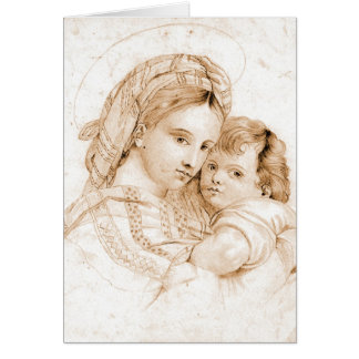 Pieta 1850 greeting card