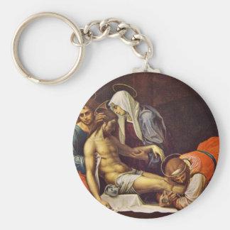 Pieta Basic Round Button Key Ring