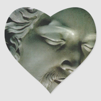 Pieta, by Michelangelo, St Peter's, Vatican Heart Sticker