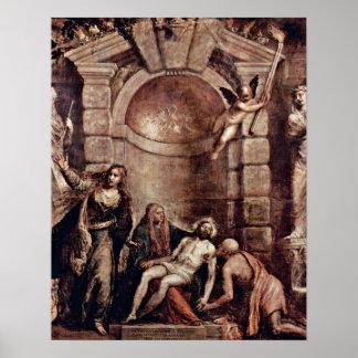 Pieta by Tiziano Vecelli Poster