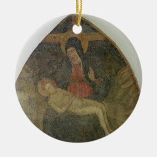 Pieta (fresco) christmas ornament