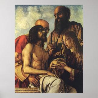 Pieta, Giovanni Bellini, Religious Renaissance Art Poster