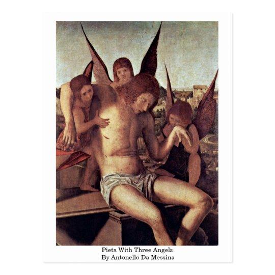 Pieta With Three Angels By Antonello Da Messina