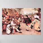 Pieter Bruegel-Barn Dance Poster