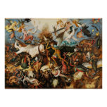 Pieter Bruegel Fall of the Rebel Angels Painting Poster