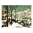 Pieter Bruegel Hunters in the Snow Postcard