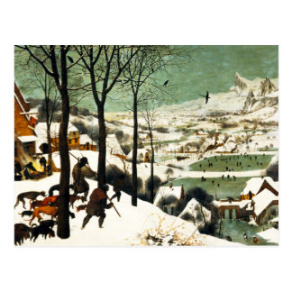 Pieter Bruegel Hunters in the Snow Postcard