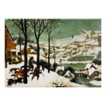 Pieter Bruegel Hunters in the Snow Poster