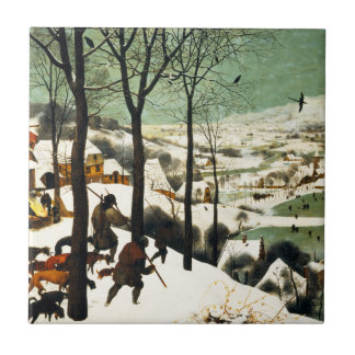 Pieter Bruegel Hunters in the Snow Tile