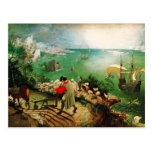 Pieter Bruegel Landscape with the Fall of Icarus Post Cards