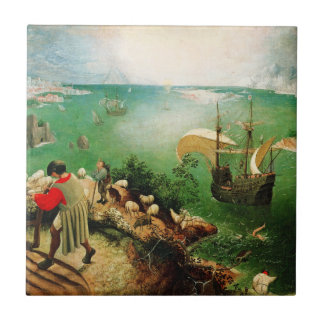 Pieter Bruegel Landscape with the Fall of Icarus Tile