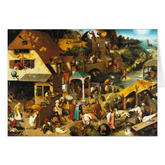 Pieter Bruegel Netherlandish Proverbs Card