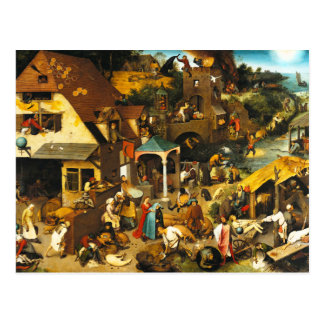 Pieter Bruegel Netherlandish Proverbs Postcard