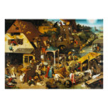 Pieter Bruegel Netherlandish Proverbs Poster