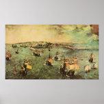Pieter Bruegel-Port of Naples Poster