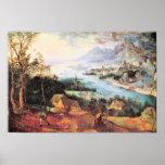 Pieter Bruegel-River Landscape with a sower Poster