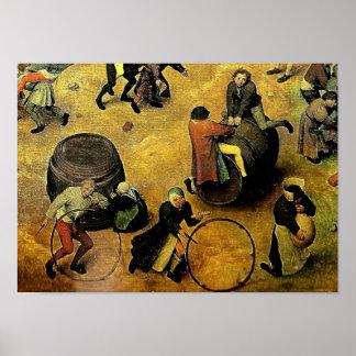 Pieter Bruegel s Children's Games Detail 1560 Print