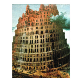 Pieter Bruegel s The Little Tower of Babel Full Color Flyer