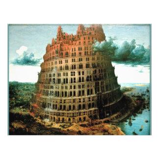 Pieter Bruegel s The Little Tower of Babel Flyer Design