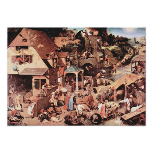 Pieter Bruegel-The Dutch proverbs Poster