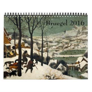 Pieter Bruegel the Elder 2016 Wall Calendar