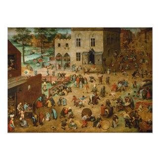 Pieter Bruegel the Elder - Children's Games Art Photo