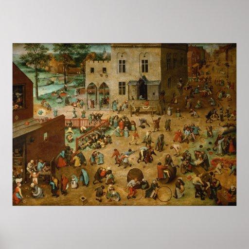 Pieter Bruegel the Elder - Children's Games Posters