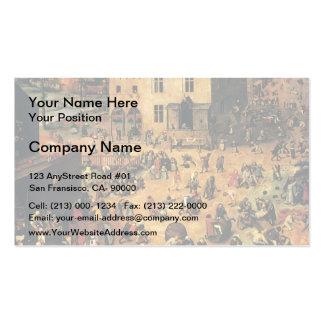Pieter Bruegel the Elder- Children's Games Business Cards