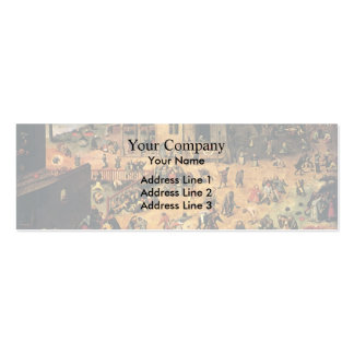 Pieter Bruegel the Elder- Children's Games Business Card Templates