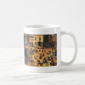 Pieter Bruegel the Elder- Children's Games Coffee Mugs