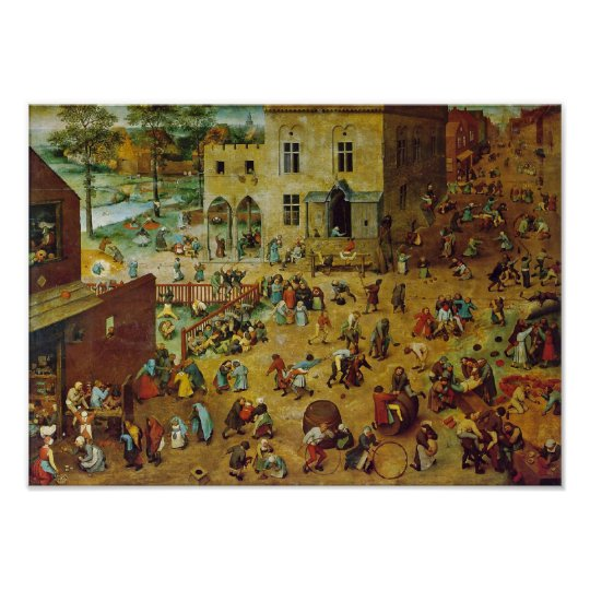 Pieter Bruegel the Elder - Childrens Games Poster