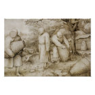 Pieter Bruegel the Elder - The Beekeepers Poster