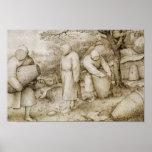 Pieter Bruegel the Elder - The Beekeepers Poster