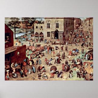 Pieter Bruegel the Elder - The childrens games Poster