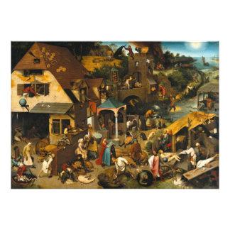 Pieter Bruegel the Elder - The Dutch Proverbs Photographic Print