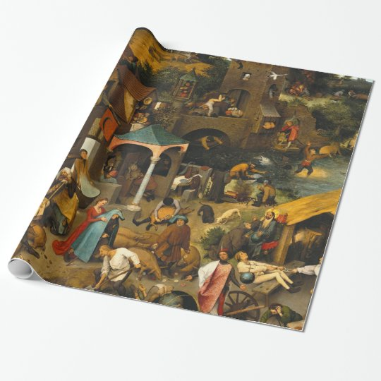 Pieter Bruegel the Elder - The Dutch Proverbs Wrapping Paper
