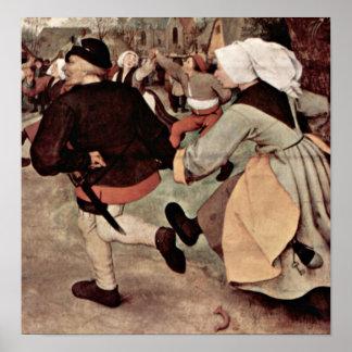 Pieter Bruegel the Elder - The Peasant Dance Poster