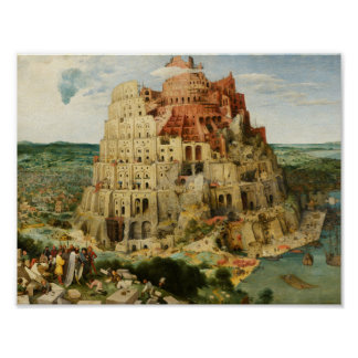 Pieter Bruegel the Elder - The Tower of Babel Poster