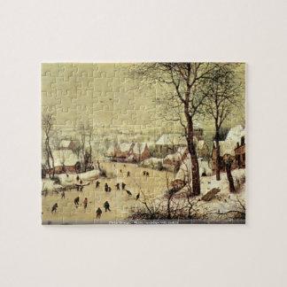 Pieter Bruegel - Winter landscape with skaters Puzzles