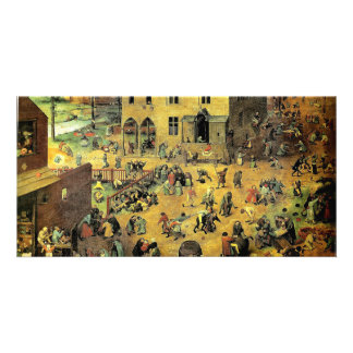"Pieter Bruegel's ""Children's Games"" - 1560 Custom Photo Card"