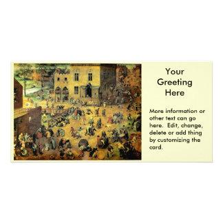 "Pieter Bruegel's ""Children's Games"" - 1560 Personalized Photo Card"
