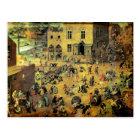 """Pieter Bruegel's """"Children's Games"""" - 1560 Postcard"""