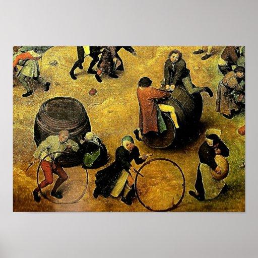 "Pieter Bruegel's ""Children's Games"" (Detail) 1560 Print"