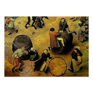 "Pieter Bruegel's ""Children's Games"" (Detail) 1560 Poster"
