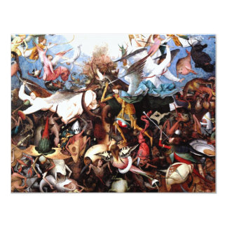 "Pieter Bruegel's ""The Fall Of The Rebel Angels"" 11 Cm X 14 Cm Invitation Card"