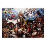"Pieter Bruegel's ""The Fall Of The Rebel Angels"" Poster"